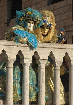 Carnivale on the Bridge of Sighs, Venice