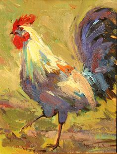 Painted chicken