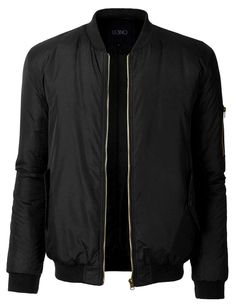 LE3NO Mens Classic Fully Lined Zip Up Flight Bomber Jacket with Pockets