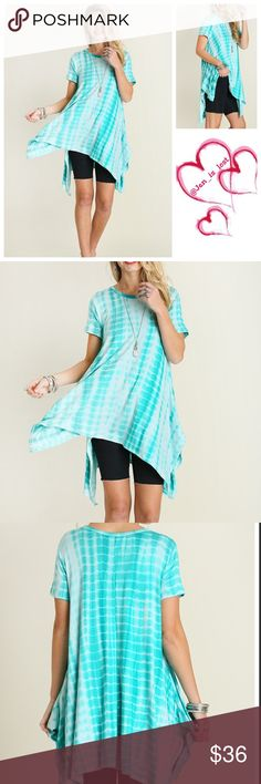 🔷 30% OFF BUNDLES 🔷 Tie Dye Tunic S,M,L Mint Asymmetrical Tie Dye Tunic Description: Asymmetrical Tie Dye Tunic.  Fabric: COTTON BLEND 🚫No Trades🚫 ✅Reasonable Offers Are Considered✅ Use the blue offer button. Tops Tunics