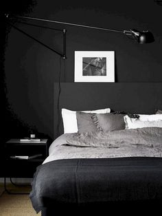 37 Marvelous Black Bedroom Color Schemes Ideas To Try Asap - Bedroom paint color schemes can help you redo your entire home. Often the bedroom is one of the last rooms to be decorated in a home simply because it. Color Schemes Design, Bedroom Color Schemes, Bedroom Colors, Home Decor Bedroom, Bedroom Ideas, Black Carpet Bedroom, Bedroom Black, Modern Bedroom, Black Rooms