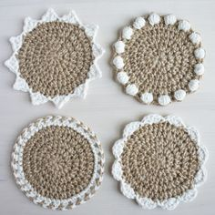 How to Crochet Waistcoat Stitch: Video and Photo Tutorial Crochet Coaster Pattern, Easy Crochet Patterns, Crochet Patterns For Beginners, Crochet Designs, Pattern Sewing, Doily Patterns, Dress Patterns, Crochet Kitchen, Crochet Home