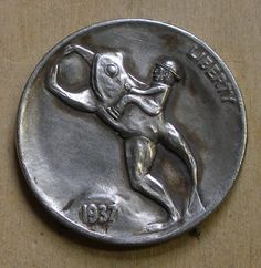 Hobo Nickel: Hobo on a Frog by Robert Shamey