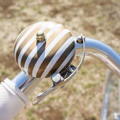 striped bike bell. bicycle chic.
