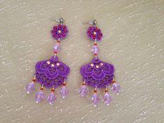 Lace earrings Elegant earrings Floral earrings by NewCreativeBliss, $20.00