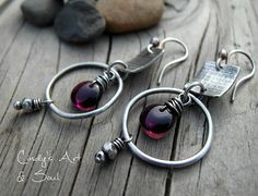 Earrings Everyday: Plum Afternoon