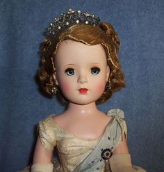 "Vintage 18"" Hard Plastic Madame Alexander Queen Elizabeth II Doll~ORIGINAL~MINTY #MadameAlexander"