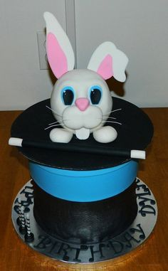 Magician's Hat and Rabbit.  Cake by Maureen