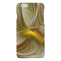 Colors of Precious Metals Abstract Fractal Art Glossy iPhone 6 Case - metal style gift ideas unique diy personalize