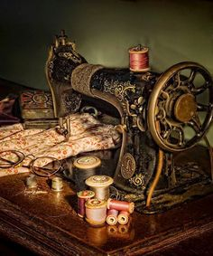 French Laundry - vintage sewing machine