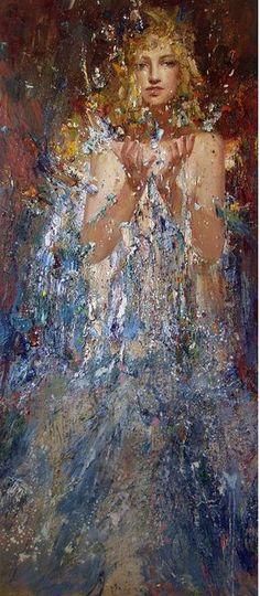 Mstislav Pavlov Paintings | Mstislav-Pavlov.-Pastoznaya-maslyanaya-zhivopis.-Vspleski