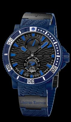 263-97LE-3C • Blue Sea • Limited Editions • Welcome to the Ulysse Nardin collection • main • Ulysse Nardin • Le Locle • Suisse • Swiss Mechanical Watch Manufacturer