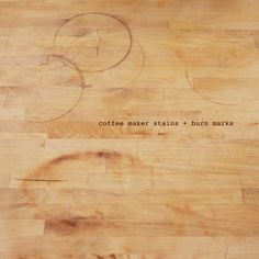 DIY Butcher Block Cleaning instructions.
