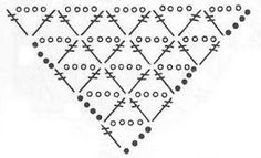 Crochet shawl 836614068261303766 - Ideas Crochet Shawl Triangle Diagram Source by moniquepeinture Poncho Au Crochet, Crochet Shawl Diagram, Crochet Shawls And Wraps, Crochet Gloves, Crochet Chart, Knitted Shawls, Crochet Scarves, Crochet Lace, Easy Crochet
