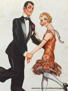 1960s JIVE and CHARLESTON DANCE Swing by sandshoevintageprint