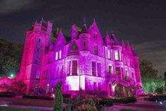 Belfast Castle Goes pink for Charity