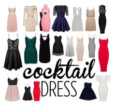 """""""Cocktail dresses"""" by rhirhiday ❤ liked on Polyvore featuring Topshop, Lipsy, Needle & Thread, Glamorous, Velvet, Moschino, Temperley London, Adrianna Papell and Monique Lhuillier"""