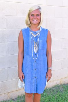Dolled Up Denim Tunic/Dress - Southern Flair Boutique