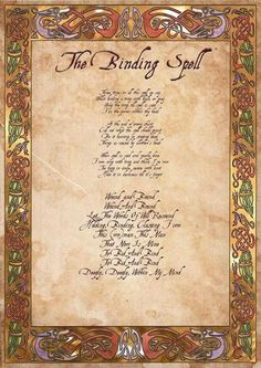 Wiccan Witchcraft Spells | Binding spell Wicca witchcraft paganism