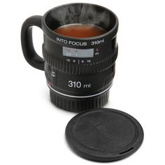 We have introduced a few DSLR camera lens shaped mugs, but if you need a more drinking friendly mug, Into Focus DSLR camera lens coffee mug may be more suitable Camera Lens Mug, Focus Camera, Coffee Cups, Coffee Maker, Coffee Time, Tea Time, Stocking Stuffers For Men, Cool Mugs, Nikon D5200