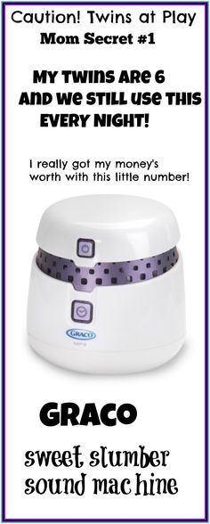I'm a Mom of 5 (three teens and 6 year old twins).  Want to know some of my Mommy Secrets??    My SIX year old twin boys still use their Graco sweet slumber sound machine  It helps them fall asleep easier at night!!  They love it!!  They have had it since they were infants (or Twinfants lol) http://astore.amazon.com/gptwinsmom-20/detail/B001GQ2P78