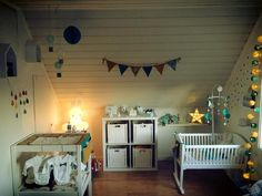 Sasha's room. <3 Emerald green and Mustard Min Lykke www.minlykkecreation.com