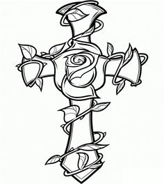 Cross Coloring Page Images