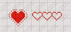 grafico de corações em ponto cruz - Pesquisa Google