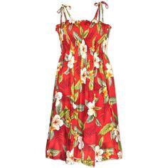Makaha Red Moonkiss Hawaiian Dress