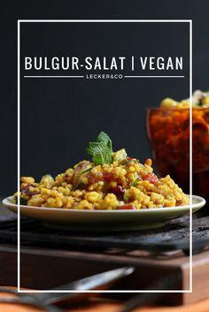 Orientalischer Bulgursalat mit Früchten und Nüssen | Vegan