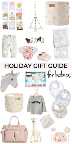 Holiday Gift Guide For Babies and New Moms | Baby Holiday Shopping List | Baby Shower Gift Ideas