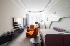 If You Think Geometry Is Boring, This Futuristic Apartment Will Make You Love It.