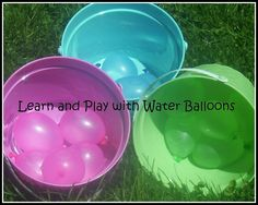 The Activity Mom: Learn and Play with Water Balloons