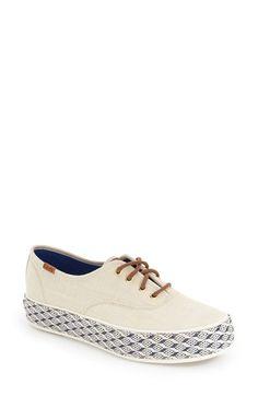 Keds® 'Triple Raffia Foxing' Platform Sneaker (Women)