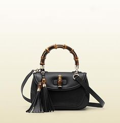 new bamboo black leather top handle bag     I Love this Gucci Bamboo bag, Anneke