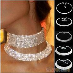 Cheap necklace topaz, Buy Quality jewelry box necklace directly from China jewelry camp Suppliers:  Min. Order is 1pc   New Crystal Rhinestone Collar Necklace Choker Necklaces Wedding Birthday Jewelry    Elegant an