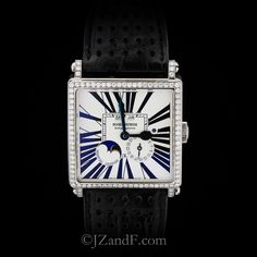 Men's Watch, Golden Square White Gold Perpetual Calendar, White Gold, Accessories, Watch, Men, Bracelet Watch, Clocks, Wrist Watches, Jewelry