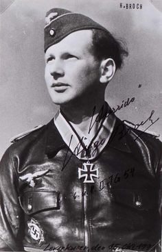 "Leutnant Hugo Broch (1922- ) -- RK: 12-3-45 Flugzeugführer 8./Jagdgeschwader 54 ""Grünherz"""