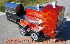 Pitmaker in Houston, Texas. Barbeque Design, Bbq Pit Smoker, Houston, Texas, Smokers, Grills, Dream Homes, Trailers, Fishing