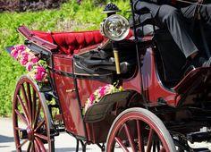 Gesteck Hochzeit Kutsche
