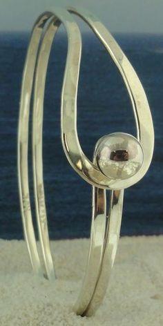 Teardrop Cape Cod Sterling Silver Bracelet