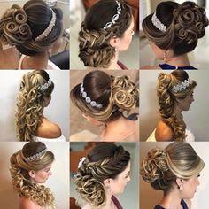 Engagement Hairstyles, Ponytail Hairstyles, Bride Hairstyles, Hairdo Wedding, Bridal Updo, Peinado Updo, Pageant Hair, Quinceanera Hairstyles, Wedding Makeup Looks