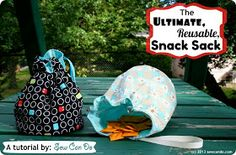 Sew Can Do: Ultimate Reusable Snack Sack Tutorial Using Food Safe Fabric (Eco-PUL)