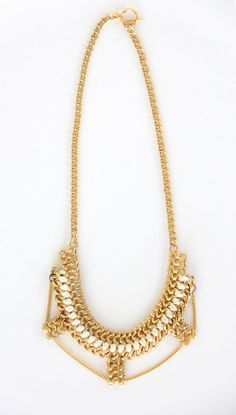 Gold chunky chain handmade necklace  mother's day by KandKapi, $79.00