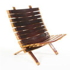 Zin Beach Chair | Zin Chair Furniture Outdoor Chairs, Outdoor Furniture, Outdoor Decor, Wine Barrel Chairs, Barrel Furniture, French Oak, Beach Chairs, Barrels, Crate And Barrel