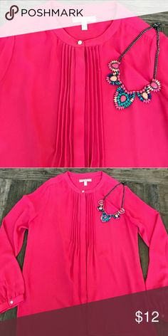 Blouse Silky pink blouse. Great for work or casual wears. Banana Republic Tops
