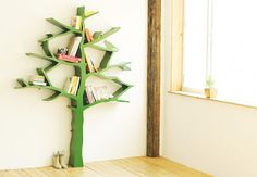 This concept behind the design came from Shawn Soh's early memories of sticking letters on tree branches. Unlike a regular bookshelf, Tree Bookshelf's branch-shaped 'shelves' are very forgiving, meaning that books don't need to be put back neatly. The organic nooks and crannies are perfect for tucking away toys and treasures too.