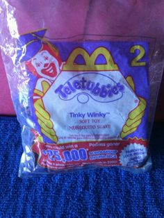 2000 McDonalds Happy Meal Toy Teletubbies - #2 Tinky Winky #McDonalds