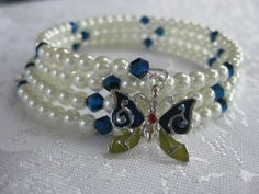 September birthstone Bracelet Memory wire by Dustysplace, $12.00