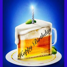 Illustration Recipes Happy birthday beer glass cake You are in the … – Baby Massage Happy Birthday Drinks, Happy Birthday Auntie, Happy Birthday Meme, Funny Birthday Cards, Birthday Beer, Birthday Cake, Birthday Wishes Greetings, Birthday Wishes Messages, Glass Cakes